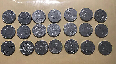 2018 Royal Mint Alphabet A to Z , 21 X 10p Ten Pence Coins All Different