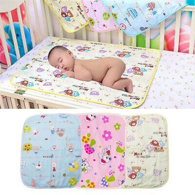 Baby Diaper Mat Cartoon Urine Mats Changing Pads For Infants Portable Washable