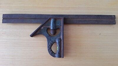 Vintage Rabone & Sons No. 1902 combination square. Old antique tool