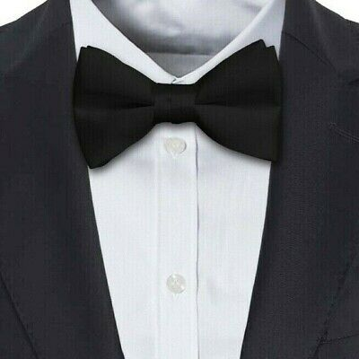 """Dicky Dickie Bow Tie BAND STRAP ELASTIC CLIP Adult Child xs//s//m//l//xl 8-20/"""" WHITE"""