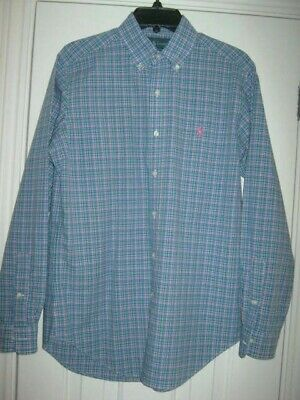 RALPH LAUREN CLASSIC FIT Multi Coloured CHECK SHIRT SMALL v.g.c.c