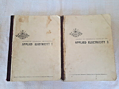 APPLIED ELECTRICITY 1 & 2  Course of Technical Instruction Very Rare Book