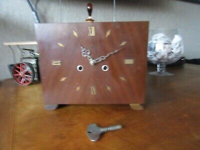 Lovely Art Deco Shapes Square Smiths Enfield Mantel Clock