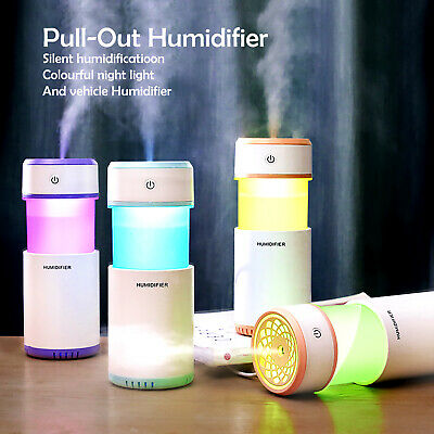 Ultrasonic Aroma Aromatherapy Air Diffuser Humidifier Essential Oil Mist LED USB
