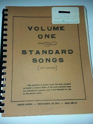 Vintage Volume One Standard Limited Edition Sheet Music For Musicians