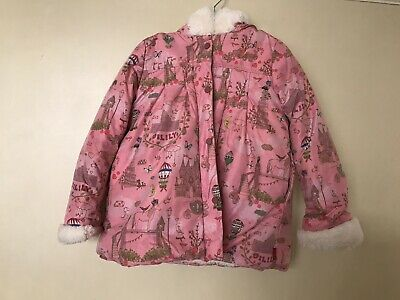 girls oilily coat age 4 pink gorgeous