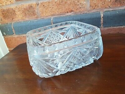 Square Bowl, Dish, Serving, Decoration, Crystal Glass 1700g