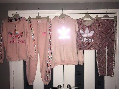 Girls Age 11-12 Years, Adidas Bundle, Tracksuit, Hooded Jumper, Vest & Leggings