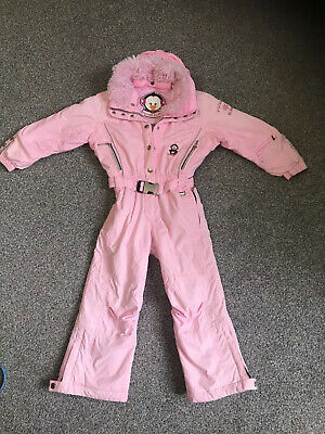 Girl's POIVRE BLANC all in one ski suit pink Penguin Skiing Holiday Age 6