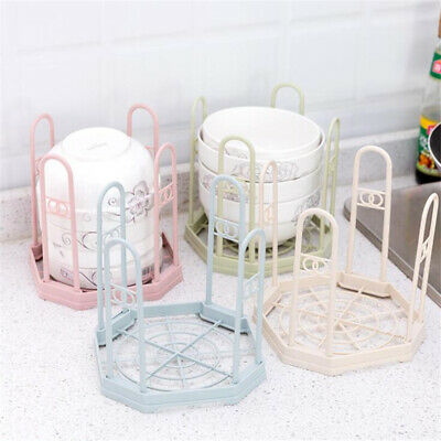 NEW Plastic Dish Rack Drainer Sink Cutlery Drying Foldable Dryer Tray Kitchen N7