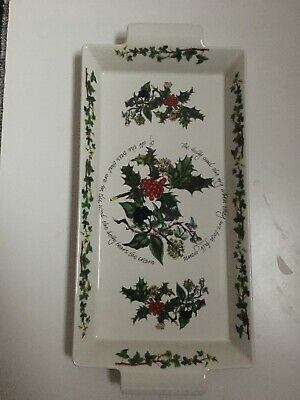PORTMEIRION THE HOLLY AND THE IVY FLAT SERVING DISH. Excellent Condition