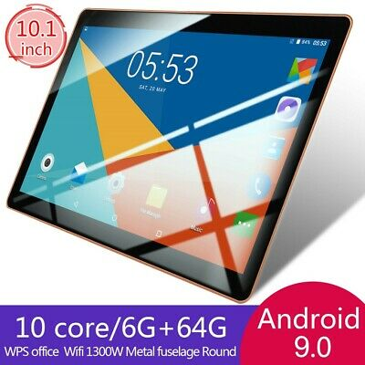 "10.1"" Inch Tablet PC Android 9.0 6G+64GB WIFI 10 Core Dual SIM bluetooth Camera"