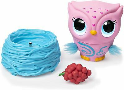 Owleez 6053359 Flying Baby Owl Interactive Toy With Lights And Sounds (Pink), 6