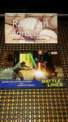 Journey To Star Wars The Rise Of Skywalker Battle Lines BL-2 Qui-Gon Darth Maul