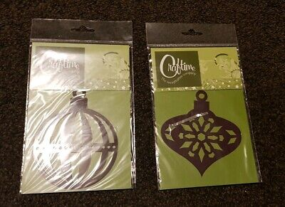 Craftime Christmas Bauble Embossing Stencils x 2 Designs