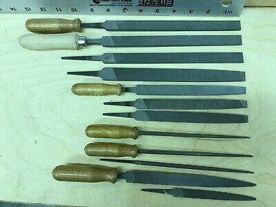 Machinist metal files, not used, Nicholson. Lot of 12.