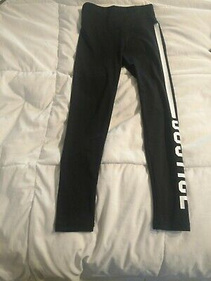 Girl's JUSTICE Active Black Leggings Pants Size 8    Cute!