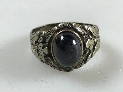Siegelring, Ring, Roter Stein, 835 Silber, Art Deco, -426