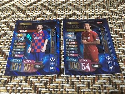 Topps Match Attax 19/20, Champions & Europa league, 100 club, Lionel Messi 331,V