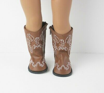 "Brown Eagle Cowboy Cowgirl Western Boots Doll Clothes For 18"" American Girl"