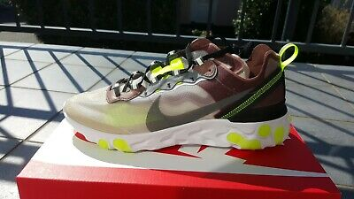 NIKE REACT ELEMENT 87 Desert Sand Grey Yellow Undercover