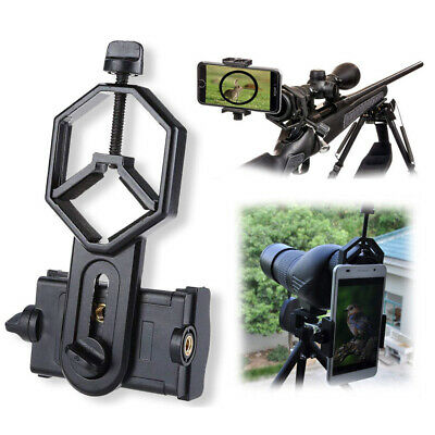 Universal Black Mobile Phone Holder Clamp Spotting Scope Cellphone Adapter Mount