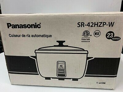 Panasonic SR-42HZPW  23-cup (Uncooked) Commercial Rice Cooker/warmmer WHITE