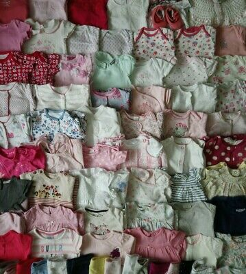Massive Baby Girls Clothes Bundle 6 - 9 Months/Over 50 Items