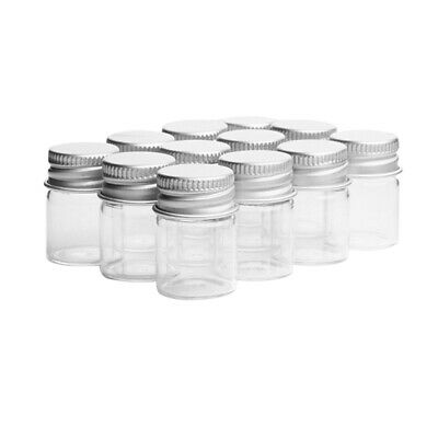 12PCS Glass Storage Container with Cover Spice Sealed Cans Storage Jar for House