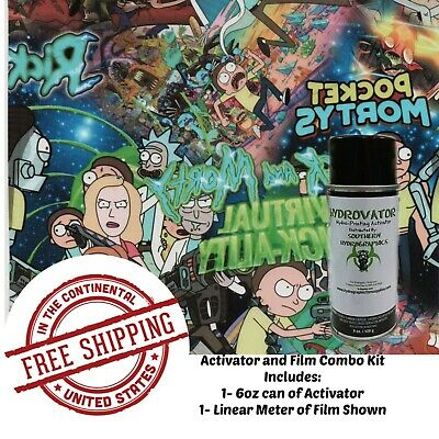 Hydrographic Water Transfer Hydro Dip 6Oz Activator & 1M Science Dudes Film Kit