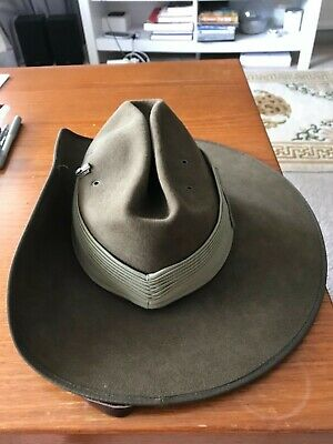 Australian Army Slouch hat -Akubra size 53 1991 superb condition
