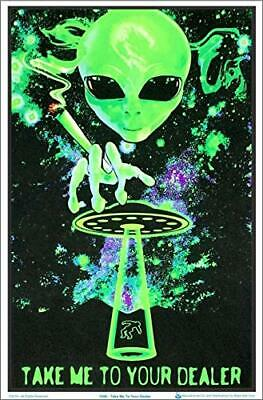 "Take Me to Your Dealer Laminated Blacklight Poster - 23.5"" x 35.5"""