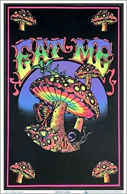 "Eat Me Mushroom Magic Laminated Blacklight Poster - 23.5"" x 35.5"""