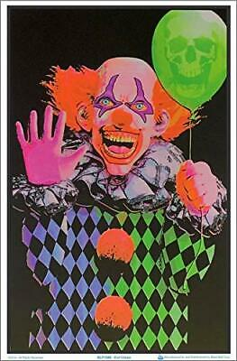 "Evil Clown Laminated Blacklight Poster - 35.5"" x 23.5"""