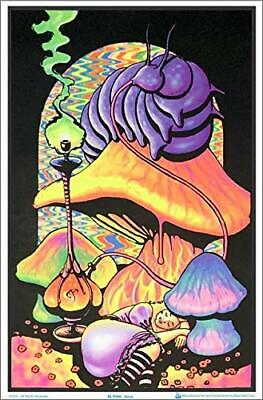 "Alice in Wonderland Dreaming Laminated Blacklight Poster - 23.5"" x 35.5"""