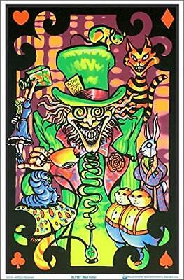 "Alice in Wonderland Mad Hatter Collage Laminated Blacklight Poster 23.5"" x 35.5"""