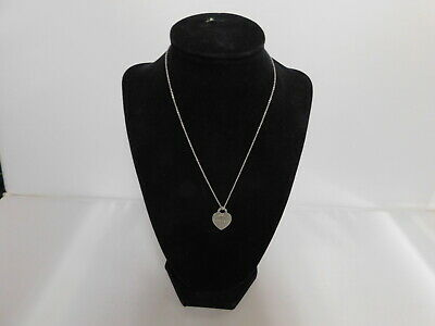 Please Return to Tiffany & Co. New York .925 Sterling Silver Heart Necklace