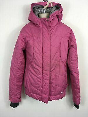Girls Columbia Titanium Pink Silver Lined Zip Up Hooded Sports Jacket Age 14/16