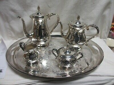 Vintage GORHAM Newport VB300 Silverplate Coffee Tea 5 Piece Set   CT
