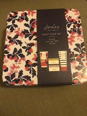 Joules Brand New Body Care Set Tin - Body Wash, Lotion, Butter, Scrub