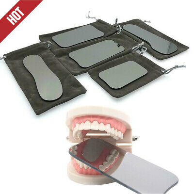 5* Dental Intraoral Orthodontic Photographic Glass Rhodium 2-sided Mirror P3Z8