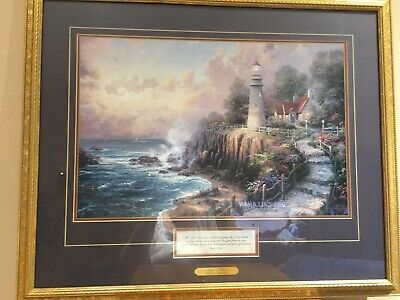 "Thomas Kinkade ""Light of Peace"" Framed Print"