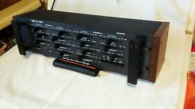 SAE 1800 stereo equalizer for amplifier,preamp,tuner,vintage system w. rare case