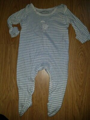Baby Boys M&S Tiny tatty teddy me to you bear sleep suit....3-6 months