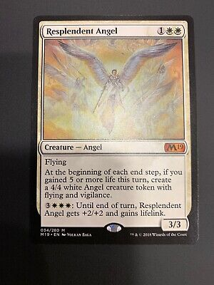Resplendent Angel NM - Core Set 2019 - MTG