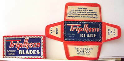 Vintage TRIPLKEEN   FULL BOX DE  Safety Razor Blades