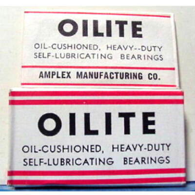 Vintage OILITE BEARINGS   FULL BOX DE  Safety Razor Blades