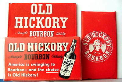 Vintage OLD HICKORY BOURBON WHISKY FULL BOX DE  Safety Razor Blades