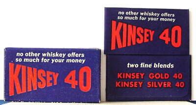 Vintage KINSEY 40 WHISKEY FULL BOX DE  Safety Razor Blades