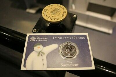 Strike Your Own 50p Christmas 2019 The Snowman Limited Edition Collectors Coin